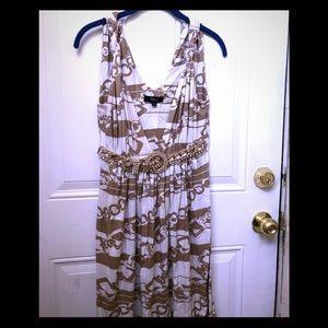 SKY Metallic Sheen Gold Dress
